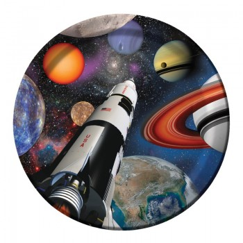 Platos Space Blast 23cm (8 uds)