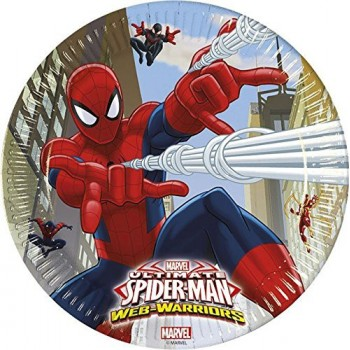 Platos 23cm Spiderman Ultimate (8 uds)
