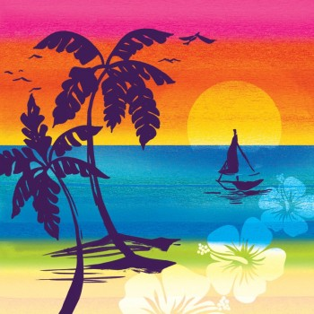 Servilletas Grandes Aloha Summer (16 uds)