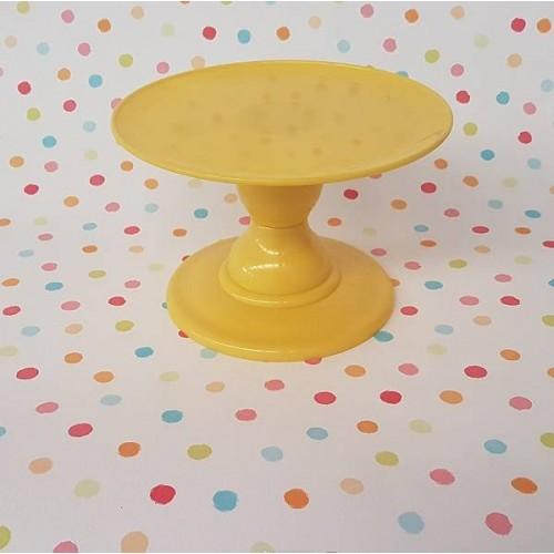 Soporte para tarta amarillo pequeño (1 ud)