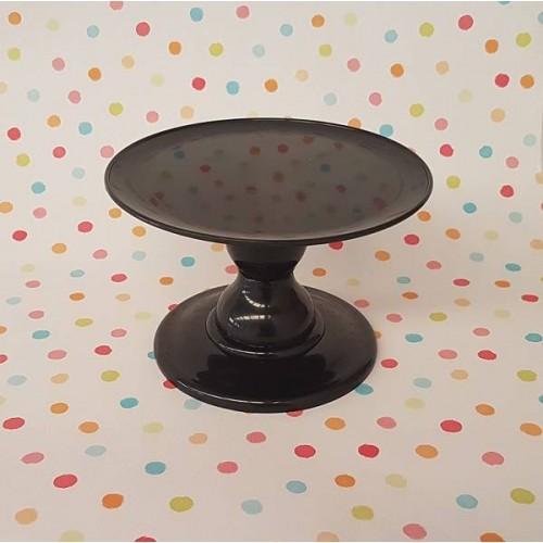 Soporte para tarta negro pequeño (1 ud)