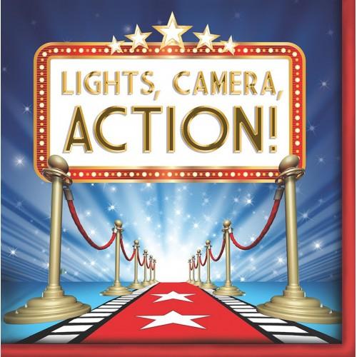 Servilletas Grandes Hollywood Lights (16 uds)