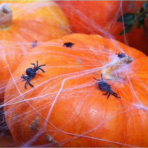 Arañas de plástico negras (10 uds)