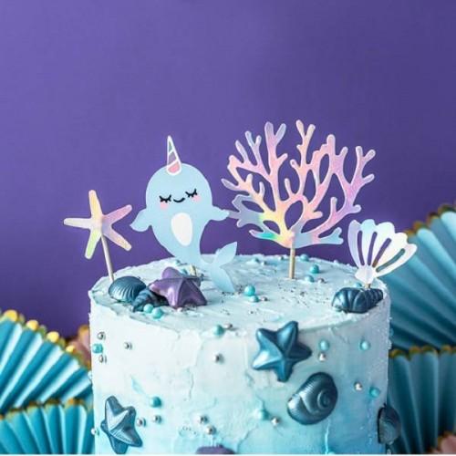 Toppers tarta Fondo del Mar (4 uds)