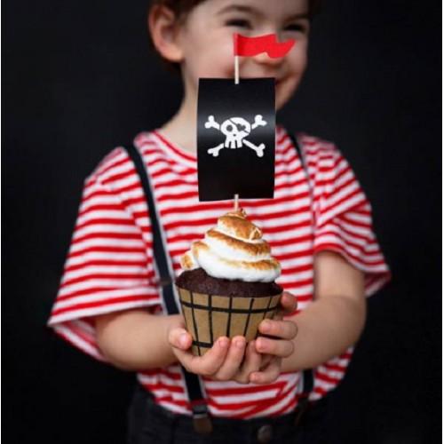 Kit Cupcakes Pirata (6 uds)