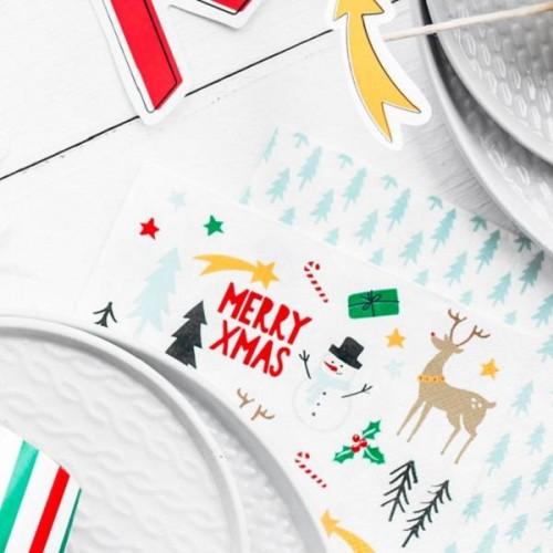 Servilletas Merry Xmas grandes (20 uds)