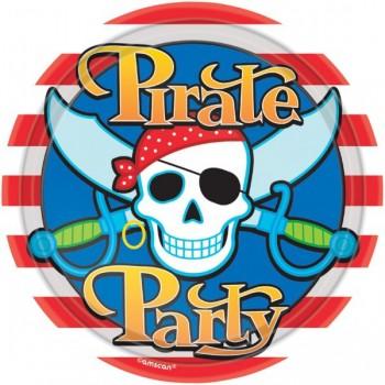 Platos 23cm Pirata (8 uds)