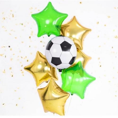 Globo Balón Fútbol foil esférico (1 ud)