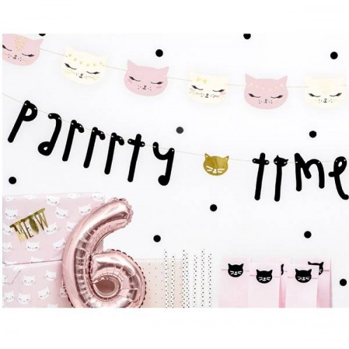 """Banner """"Party time"""" Gatitos (1 ud)"""
