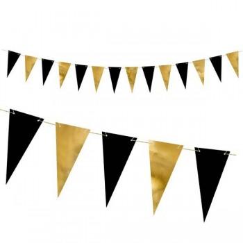 Banderín Oro y Negro (1 ud)