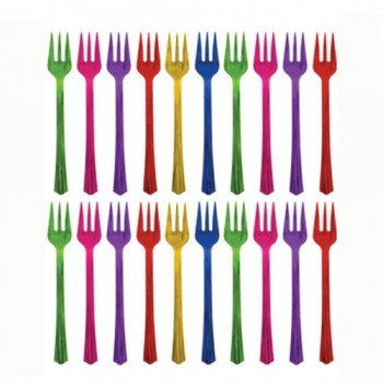 Pinchos Tenedor De Colores (20 uds)