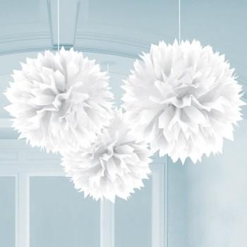 Pompones Blancos (3uds)