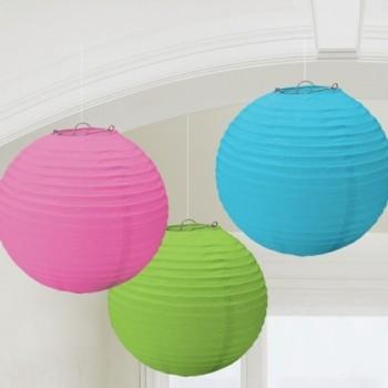 Linternas Colores (3uds)