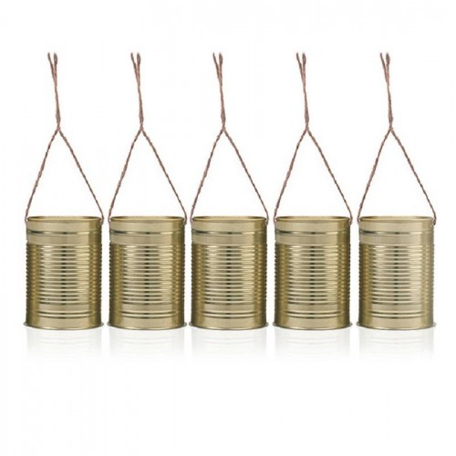 Latas decorativas doradas  (5 uds)