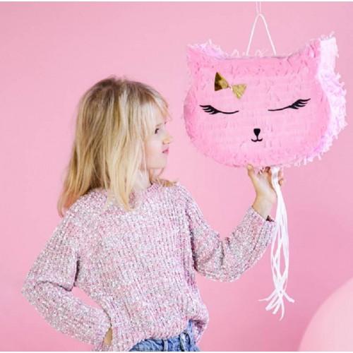 Piñata con forma de gato mediana (1 ud)