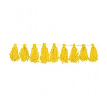 Guirnalda Flecos Color Amarillo (1ud)