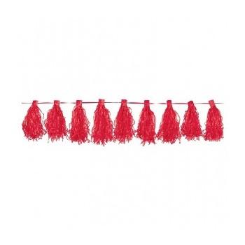 Guirnalda Flecos Color Rojo (1ud)