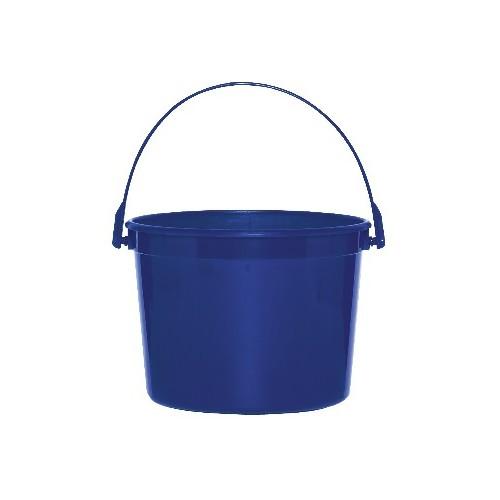 Cubo de plástico azul royal (1 ud)