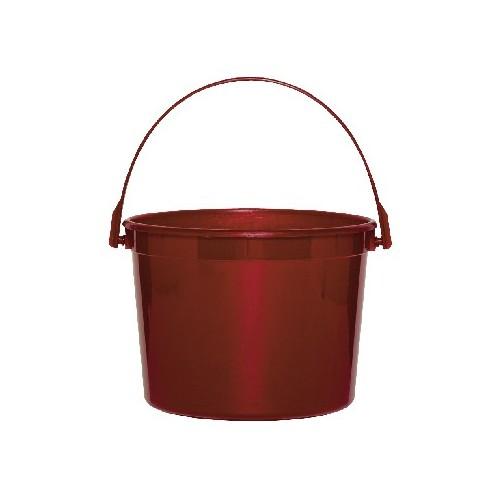 Cubo De Plástico Rojo (1 ud)