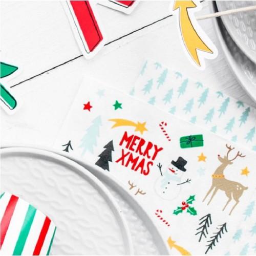 Servilletas Árboles de Navidad grandes (20 uds)
