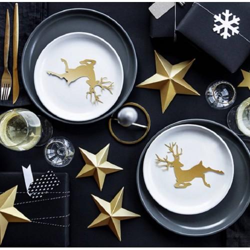 Estrellas decorativas doradas (6 uds)
