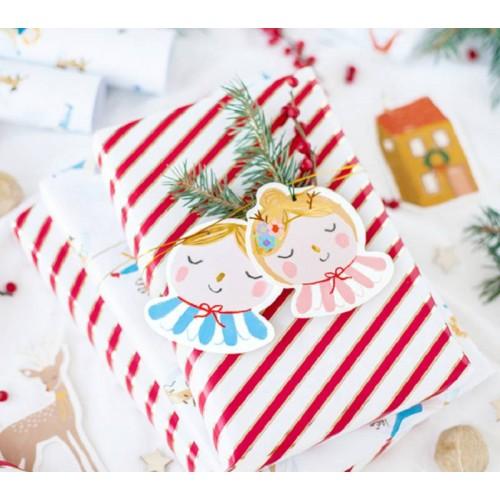 Etiquetas de regalo imágenes Navidad (12 uds)
