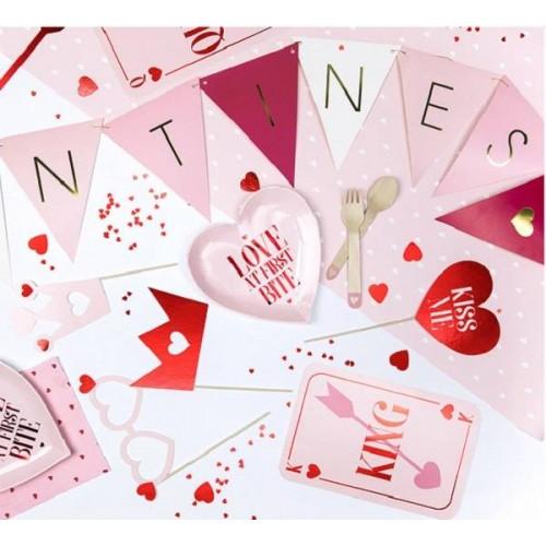 """Banderín multicolor y texto """"Valentines"""" (1 ud)"""