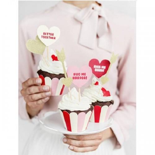 Envoltorios para cupcakes Sweet Love (6 uds))