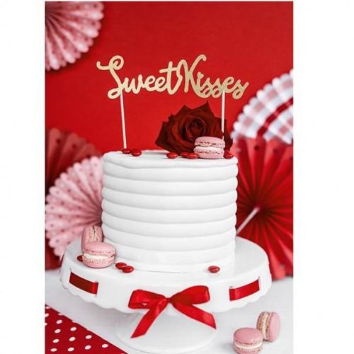 "Topper para tarta ""Sweet Kisses"" (1 ud)"