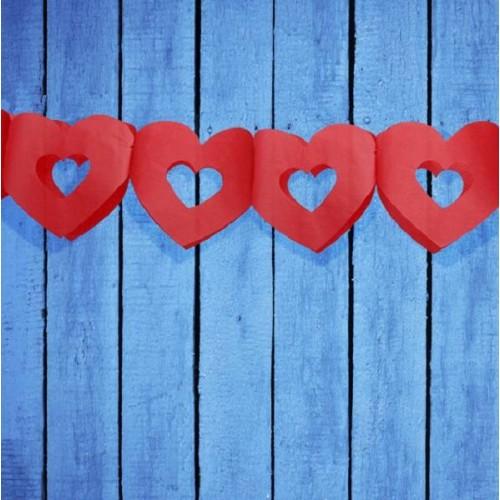 Guirnalda corazones rojos (1 ud)