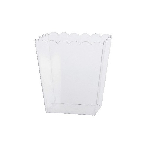 Bol Cubo De Palomitas Transparente Mediano (1 ud)