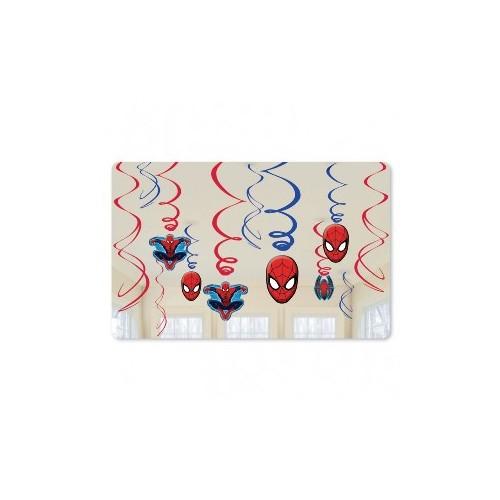 Decoración Colgante Spiderman (12 uds)