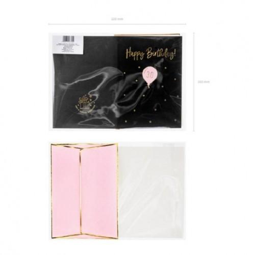 """Tarjeta """"Happy Birthday"""" 30 años"""