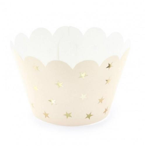 Envoltorios para cupcakes estrellas (6 uds)